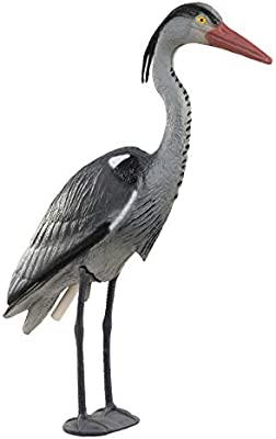 HERITAGE POND HERON PLASTIC DECOY FISH KOI PONDS PEST DETERRENT LARGE BIRD 76CM