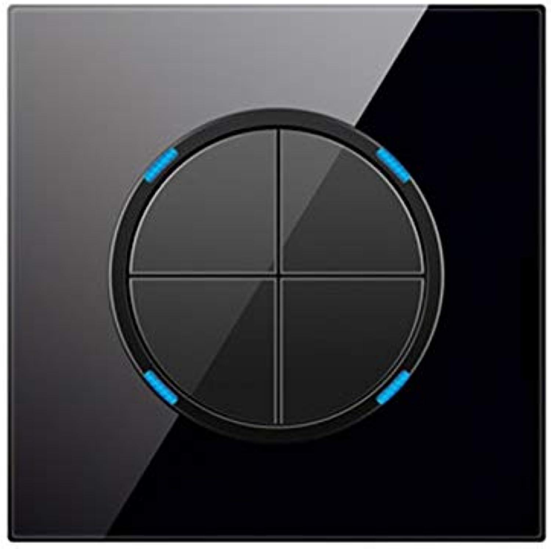 2d30133b4beb Minitiger 4 Gang 1 Way Random Click Push Button Wall Touch Light ...