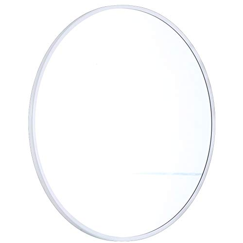 Wandspiegel rond make-up spiegel wandspiegel wandspiegel wandspiegel met decoratie woonkamer 60x60cm Wit