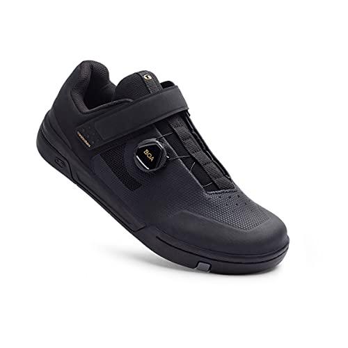 Crank Brothers Stamp BOA Men's Flat Shoe - Black/Gold/Black, Size 10.5