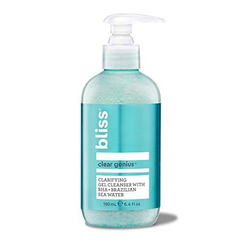Bliss Clear Genius Clarifying Gel Cleanser | Non-Irritating | Clean | Cruelty-Free | Paraben Free | Vegan | 6.4 oz