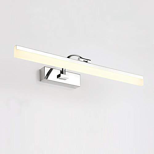 Wandlamp 60 cm moderne 14W LED spiegellamp badkamerverlichting AC110-240V roestvrij staal en acryl wandlampen make-up verlichting