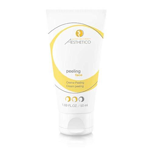 AESTHETICO peeling - aktivierendes, mechanisches Peeling, löst abgestorbene Hautzellen bei müder, schlaffer Haut, ohne Mikroplastik, 50 ml