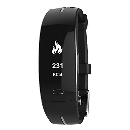 P3 Smart Band PPG EKG Monitor Blutdruck Uhr Echtzeit Herzfrequenz Sport Fitness Tracker Smart Armband für IOS Android (Schwarz)