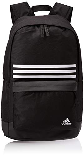 adidas CLAS BP 3S Pock Backpack, Unisex Adulto, Black/White, M