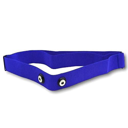 1neiSmartech Banda elástica ajustable para cardio de frecuencia Garmin Polar Wahoo Bryton - Correa de tela premium de nailon y elastano con casquillo de sensores de distancia de 45 mm (azul cielo)
