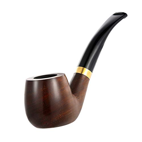 Joyoldelf Tobacco Pipes Set - Rosewood Flat Bottom Smoking Pipes with 3-in-1 Scrapers, Other Cleaning Tools and Accessories
