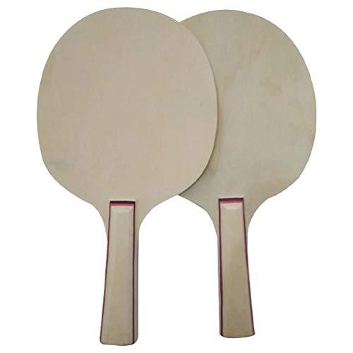 TOYANDONA Juego de Pelota de Paleta de 2 Piezas Paletas de Ping Pong de Madera Suministros Creativos de Tenis de Mesa para Principiantes de Entrenamiento Deportivo