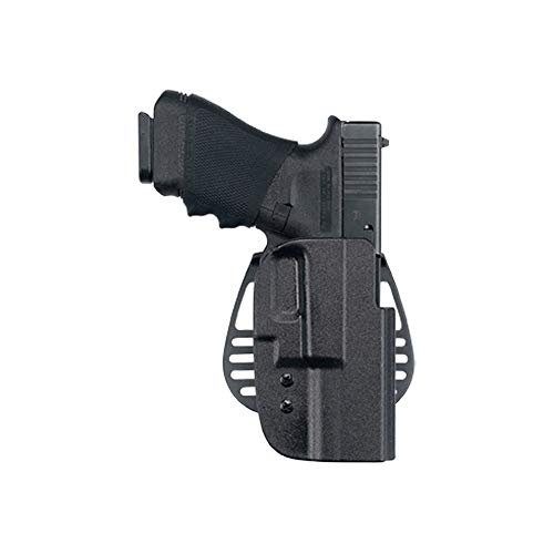 Uncle Mike's Kydex Off-Duty and Concealment OT Hip Holster with PBA (Black, Size 12, Left Hand)