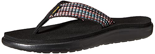 Teva Damen Voya Flip Sandal Womens Pantoffeln, Schwarz (Bar Street Multi Black Bsmbl), 37...
