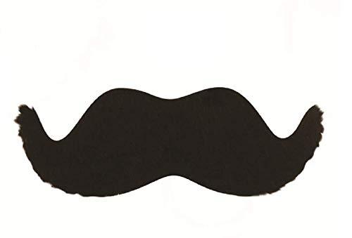 Fancy Me pour hommes femmes noir adhésif années 1970 118 118 mario luigi mexicain moustache costume déguisement - 6, One size