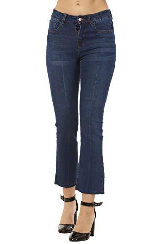 Ex High Street Jeans Bootcut da Donna - Lunghezza alla Caviglia - Elasticizzati - Blu - 38