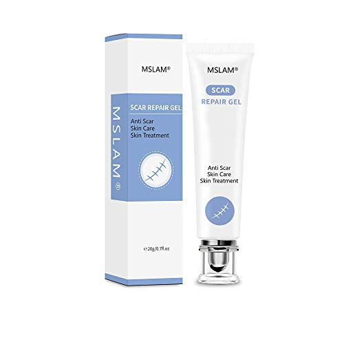 Scar Removal Gel For New and Old Scars, Scar Removal Cream,Skin Repair Gel for Face, Body, Stretch Marks, C-Sections by W&S Health