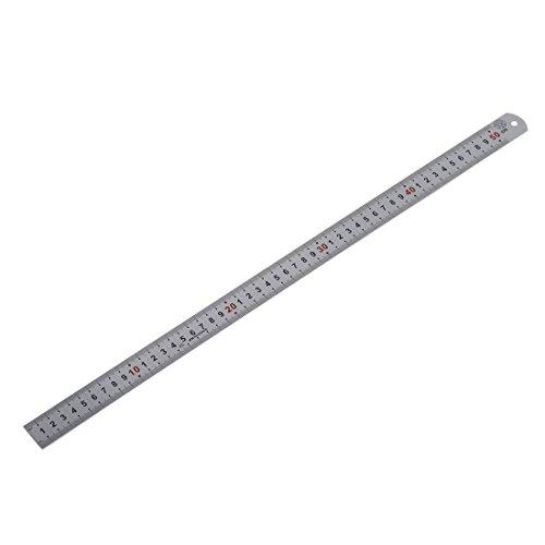 TOOGOO(R) Doppia scala laterale in acciaio inox righello strumento di misurazione 50cm