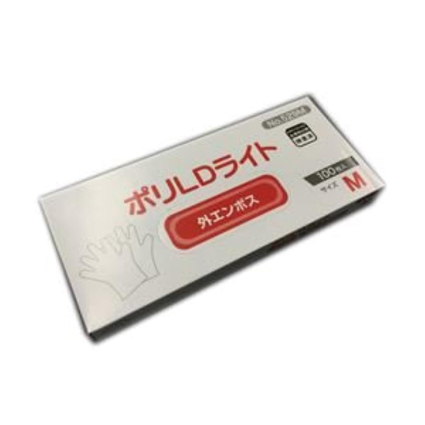 つかいます乗ってバッチ(業務用セット) オカモト 低密度ポリエチレン手袋 ポリLDライト M 1箱(100枚) 【×20セット】 dS-1639048