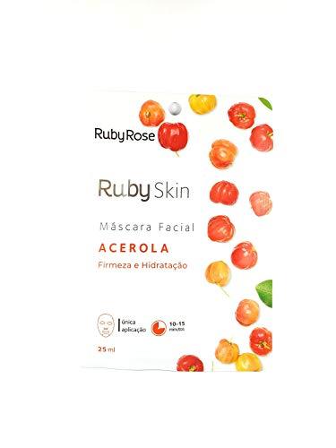 Máscara Facial De Tecido Skin Ruby Rose ACEROLA HB-701 ACEROLA