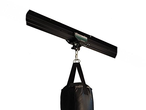 Firstlaw Fitness I-Beam Rolling Mount for Punching Bag & 8 Feet Rail Combo - Green Rolling Mount - Made in The USA