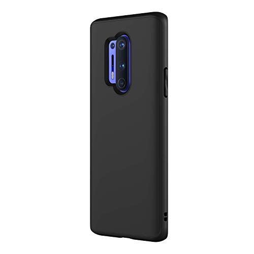 RhinoShield Case Compatible with [OnePlus 8 Pro] | SolidSuit - Shock Absorbent Slim Design tective Cover with Premium Matte Finish [3.5M / 11ft Drop tection] - Classic Black