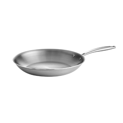 Tramontina 80116/007DS Gourmet Stainless Steel Induction-Ready Tri-Ply Clad Fry Pan, 12 Inch, Made in Brazil