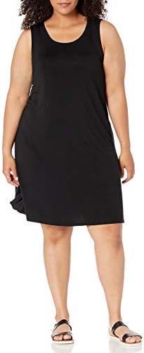 Amazon Essentials Women s Plus Size Tank Swing Dress Black 1X product image