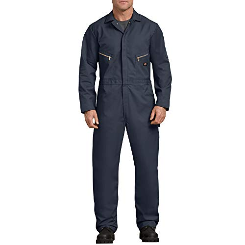 Dickies Men's 7 1/2 Ounce Twill Deluxe Long Sleeve Coverall, Dark Navy, Large Regular