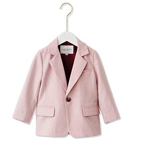 JHLong Children's Blazer Meisje Effen Kleur Top Roze Retro Meisje Ouder-kind Outfit (3-8 Jaar Oud)