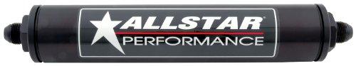 Allstar ALL40245 Black 12' Long x 2' Diameter Anodized Aluminum -10 AN Inlet/Outlet In-Line Fuel Filter Housing
