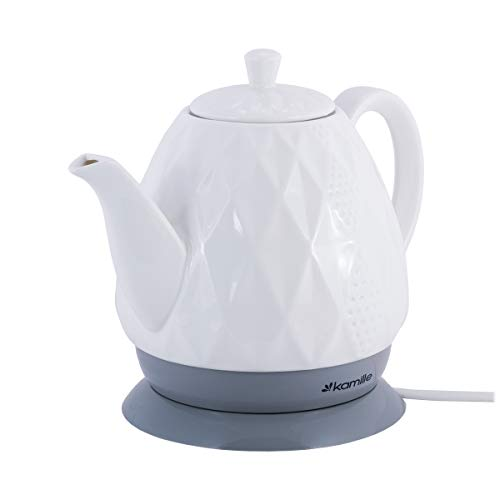 Hervidor de agua eléctrico de cerámica, 1,5 L, para café, pasteles, electrodomésticos