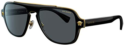 Versace Sonnenbrille VE2199-100281-57 Aviator Sonnenbrille 57, Mehrfarbig