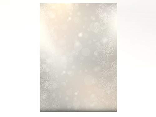 Weihnachtsbriefpapier | Tanzende Flocken | 50 Blatt weihnachtliches Motivpapier DIN A4 | Briefpapier