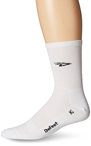 Defeet Aireator High D-Logo Hi-Top Socken Größe L weiß