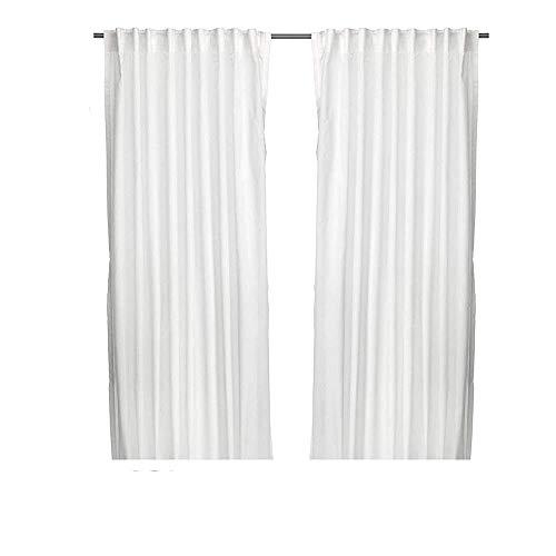 Unbekannt Ikea Vivian - Set di 2 Tende con Passanti, 300 x 145 cm, Colore: Bianco