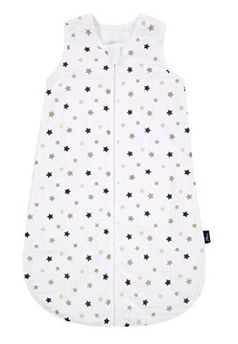 Alvi Mull-Schlafsack Sterne grau 110