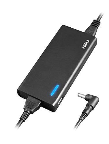Nox -NXPWR90NB- Cargador para portatil 90W, 10 conectores distintos, eficiencia minimo 85%, compatible con la mayoria de marcas, regulación automatica de voltaje, color negro