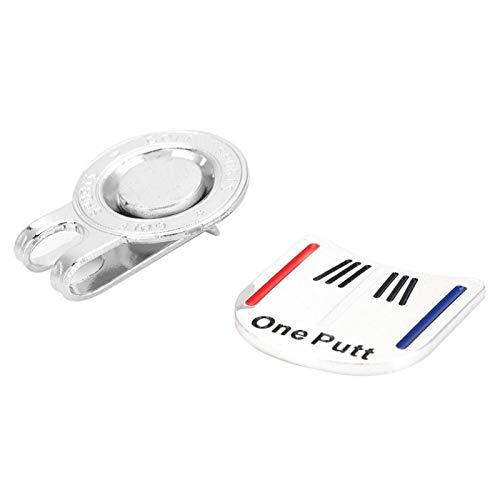 DAUERHAFT Marcador de Bola de galvanoplastia de Pulido de Superficie One Putt Magnet Hold Hecho de Metal (Silver Color Bar)