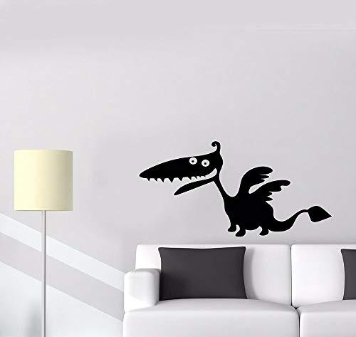 YuanMinglu Habitación Infantil Divertido Dinosaurio Monstruo calcomanía de Pared dragón Leyenda fantasía Vinilo Pegatina Papel Tapiz jardín de Infantes Dormitorio calcomanía decoración 42X21 cm