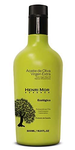 Henri Mor Aceite de Oliva Virgen Extra Ecológico 500 ml, Cuarta Arbequina...