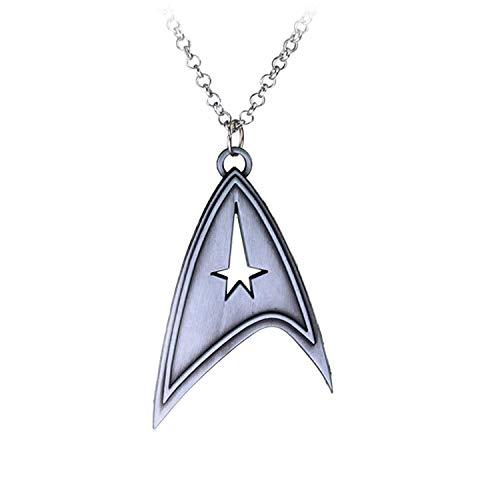Hzzzzz Star Trek Starfleet Command Symbol Pendant Star-Shaped Cut-Out Design Necklace
