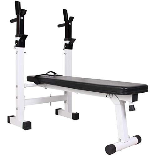 XFENG Einstellbare Home Gym Bänke Folding Gewicht Tabelle Multifunktionale Gewichtheben Bett Press Faltbare Squat Rack-Fitnessgeräte Bänke for Muskeltraining