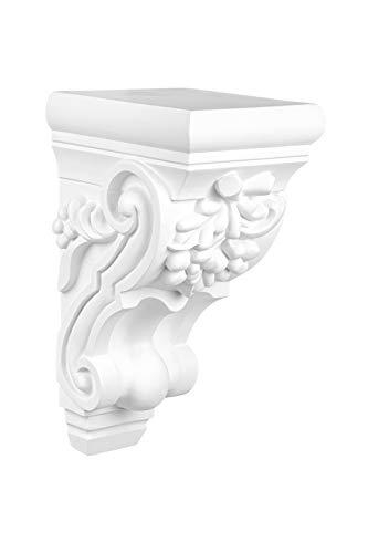 Stuckkonsole | vorgrundiertes schlagfestes Polyurethan | Wandkonsole | Barock | Innendekor | PU | Hexim Perfect | 120 x 140 mm | C8007