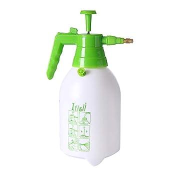 Itisll Manual Garden Sprayer Hand Lawn Pressure Pump Sprayer Safety Valve Adjustable Brass Nozzle 0.5 Gal