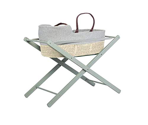moKee Soft Seagrass Moses Basket with Stand, Natural