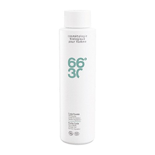 66°30 Purity Cycle Hair & Body Shower Gel Dermo-regulator, 1er Pack (1 x 250 ml)
