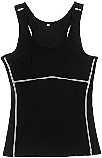 2019 DY9 Women Compression Under Base Sports Wear Yoga Tank Tops Ladies Gym Shirts s Clothes Running Cami Vest : Black, L