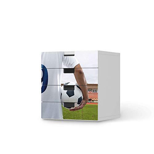 creatisto Möbel-Tattoo für Kinder - passend für IKEA Stuva Kommode - 4 Schubladen I Tolle Möbelsticker für Kinderzimmer Einrichtung I Design: Footballmania