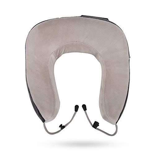 BANGSUN 1 almohada multifuncional de viaje inteligente eléctrica en forma de U almohada de masaje