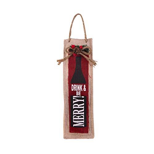 Altsommer Weihnachten Weinflaschen Set, Weihnachts Weinflaschen Beutel Rot Wein Flaschen Abdeck Beutel für Dinner Table
