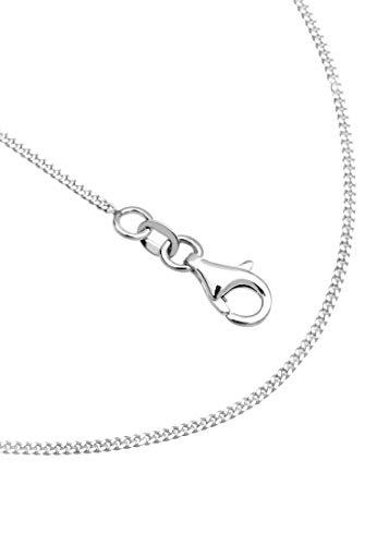 Elli Women's 925 Sterling Silver Xilion Cut Necklace of Length 60 cm