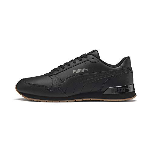 Puma Herren ST Runner v2 Full L Sneaker, Schwarz Black-CASTLEROCK White, 36 EU