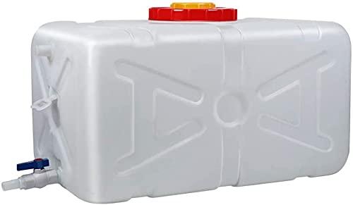 WXking Recipiente de almacenamiento de agua de plástico al aire libre, cubo de almacenamiento de agua de gran capacidad para el hogar con tapa, tanque de almacenamiento de agua cuadrado horizontal, pa